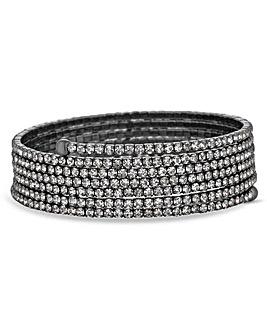Jon Richard Fine Diamante Coil Bracelet