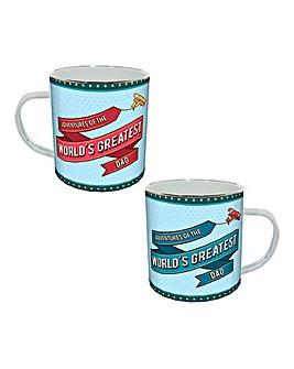 Worlds Greatest Dad Enamel Mug