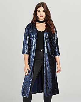 Simply Be Sequin Duster Jacket