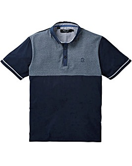 Black Label Stripe Panel Polo