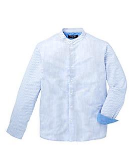 Black Label Stripe Linen Mix Shirt