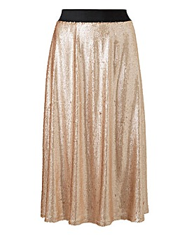 Simply Be Rose Gold Sequin Skirt