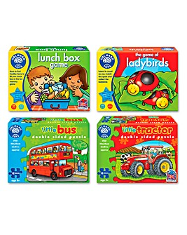 Pack of 4 Puzzle and Game Set