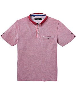 Black Label Marl Pique Trim Polo Regular