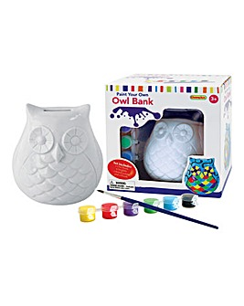 Paint Your Own Owl Bank