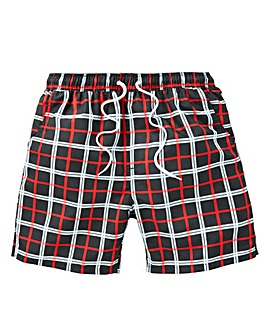 Label J Check Swim Short