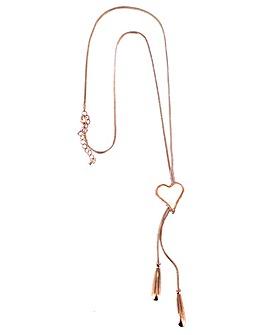 Lizzie Lee Lariat Heart Necklace
