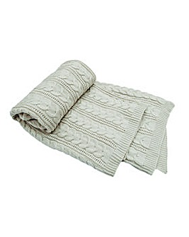 cascade home chunky knit throw