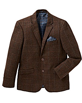 Jacamo Black Label Herringbone Blazer R
