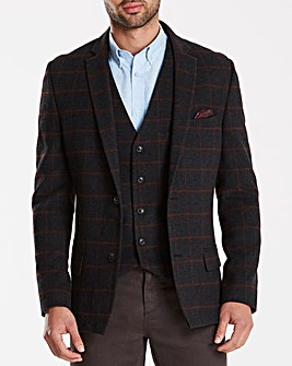 Jacamo Black Label Checked Wool Blazer L