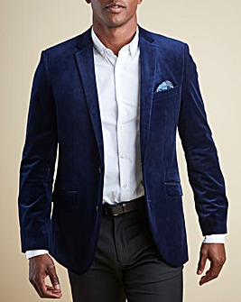 Jacamo Black Label Velvet Party Blazer R
