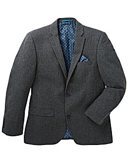 Black Label Puppytooth Wool Blazer Long
