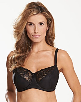 Ivy Lace Basic Black Balcony Bra