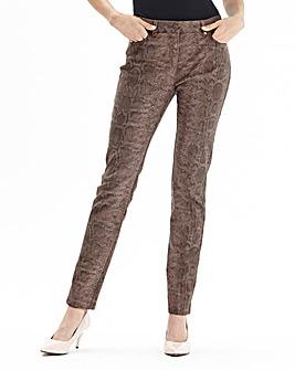 Joanna Hope Snake Skin Print Trousers