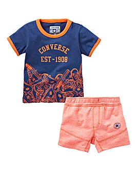 Converse Baby Boy T-Shirt and Short Set