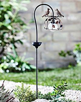Rotating Solar Flower with Birds