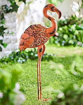 Solar Flamingo Light