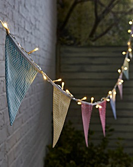 Solar Village Bunting String Lights