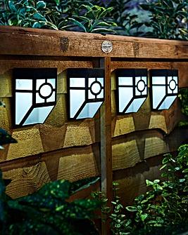 Set of 4 Solar Fence Lights