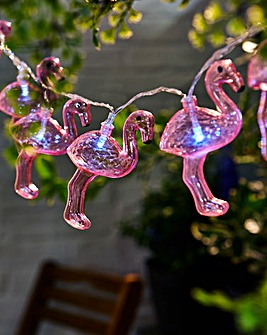 Flamingos Solar String Light