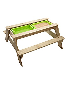 TP Deluxe Wooden Picnic Table Sandpit