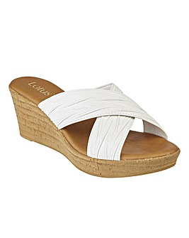 LOTUS LATIMER WEDGE SANDALS