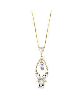 Alan Hannah Open Pear Drop Necklace