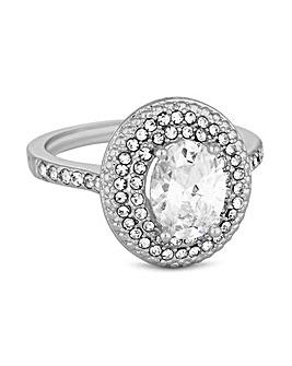 Jon Richard Pave Halo Ring