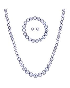 Mood Lilac Pearl Jewellery Set