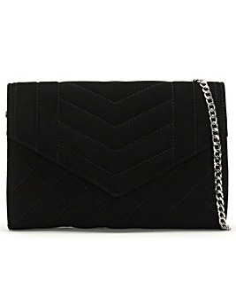 Daniel Alcove Suede Quilted Clutch Bag
