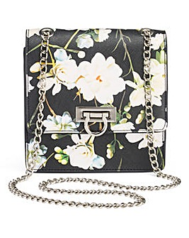 Floral Print Mini Shoulder Bag