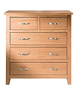 Harrogate Oak Veneer 3 +2 Drawer Chest