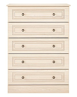 Aragon Ready Assembled 5 Drawer Chest