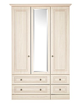 Argon 3 Door 4 Drawer Mirror Wardrobe