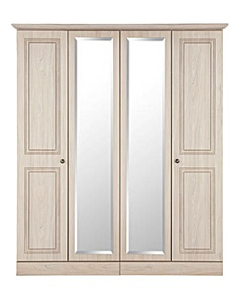 Aragon 4 Door Mirror Wardrobe