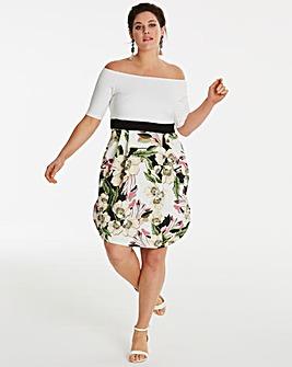 Tulip Skirt Stretch Bardot Prom Dress