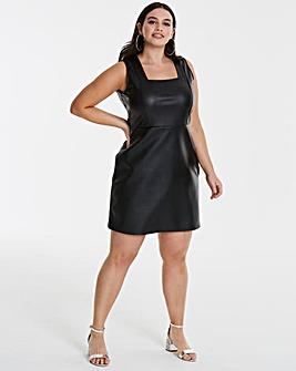 PU A Line Dress