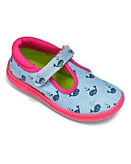 Chipmunks Girls Whale Canvas Shoes