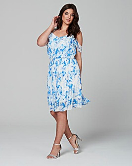 Wolf & Whistle Cold Shoulder Frill Dress