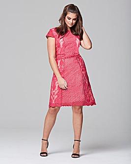 Wolf & Whistle Crochet Panel Dress