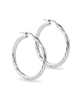 Simply Silver twisted hoop earring