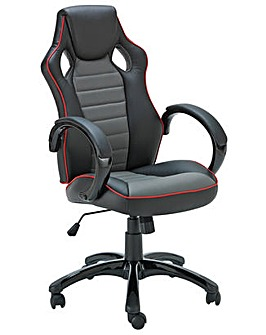 X Rocker Gaming Chair with Sound - Black