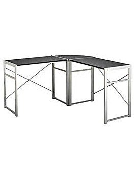 HOME Metal Corner Desk