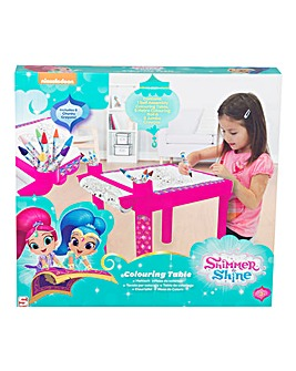 Shimmer and Shine Colouring Table