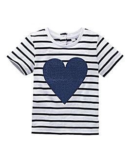 KD Baby Girl Sequin Heart T-Shirt