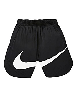 Nike Older Boys Black Vent Swoosh Shorts