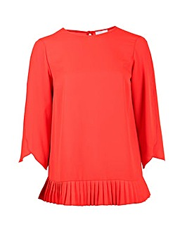 Lovedrobe GB Red Open Sleeve Blouse