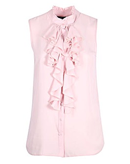 Lovedrobe GB Pink Frill Sleeveless Shirt