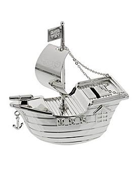 Bambino Silver Plated Pirate Money Box