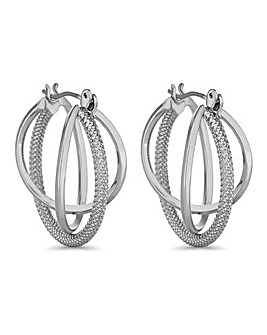 Jon Richard Braided Hoop Earring
